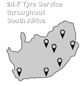 24-7 Tyre Service throughout South Africa